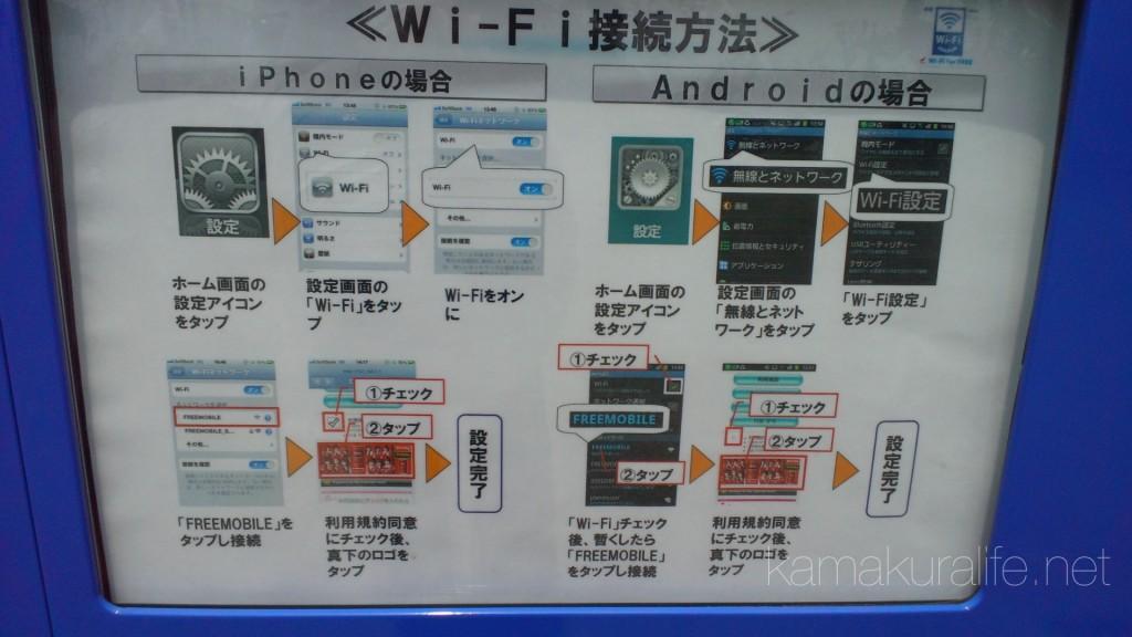 自販機に接続方法が記載